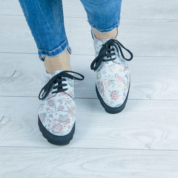Pantofi dama din piele naturala cu imprimeu MSPD53017-1-20 [1]