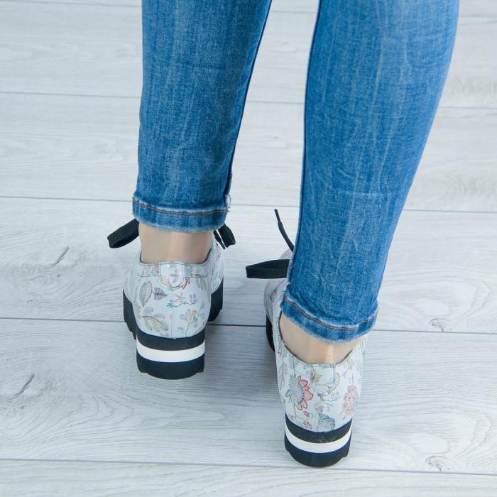 Pantofi dama din piele naturala cu imprimeu MSPD53017-1-20 [2]