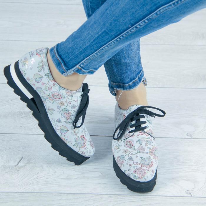 Pantofi dama din piele naturala cu imprimeu MSPD53017-1-20 [0]