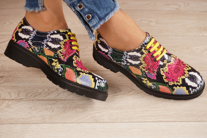 Pantofi dama din piele naturala cu imprimeu MSPD53017-12-20 1
