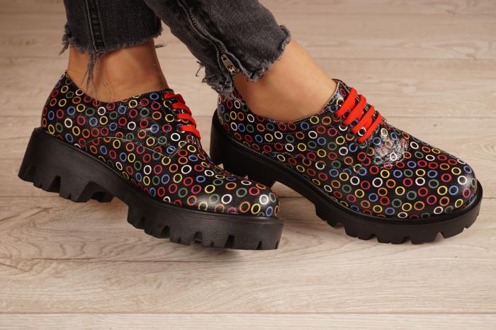 Pantofi dama din piele naturala cu imprimeu MSPD53017-13-20 1