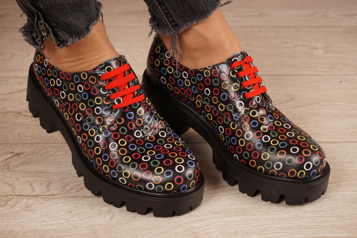Pantofi dama din piele naturala cu imprimeu MSPD53017-13-20 0