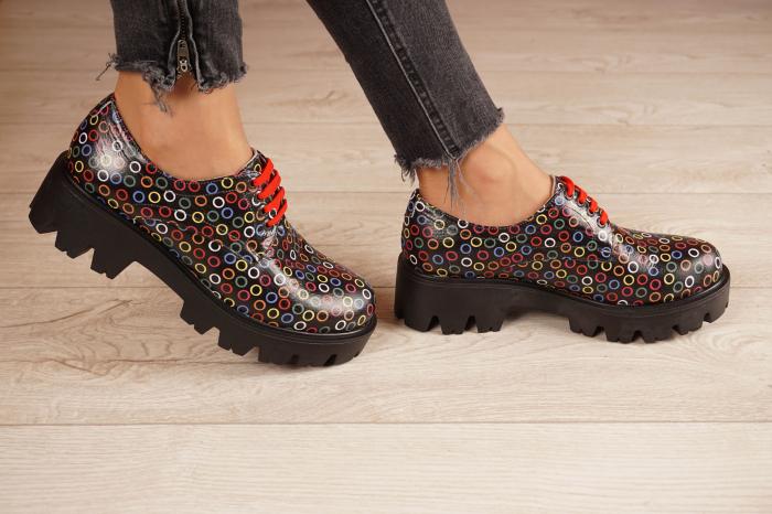 Pantofi dama din piele naturala cu imprimeu MSPD53017-13-20 2