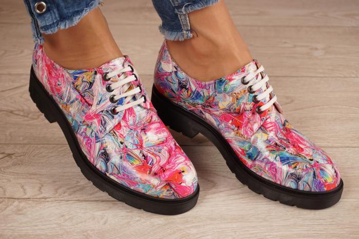 Pantofi dama din piele naturala cu imprimeu MSPD53017-15-20 0
