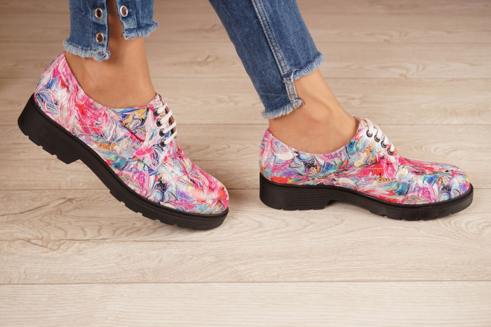 Pantofi dama din piele naturala cu imprimeu MSPD53017-15-20 2