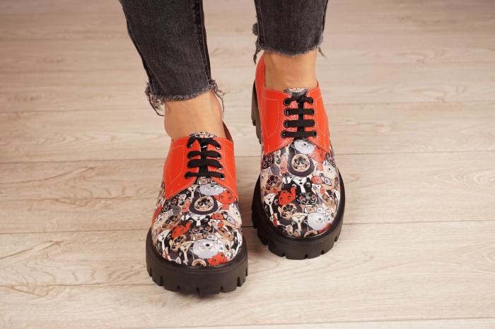Pantofi dama din piele naturala cu imprimeu MSPD53017-16-20 [3]