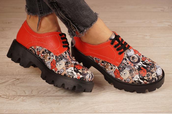 Pantofi dama din piele naturala cu imprimeu MSPD53017-16-20 [1]