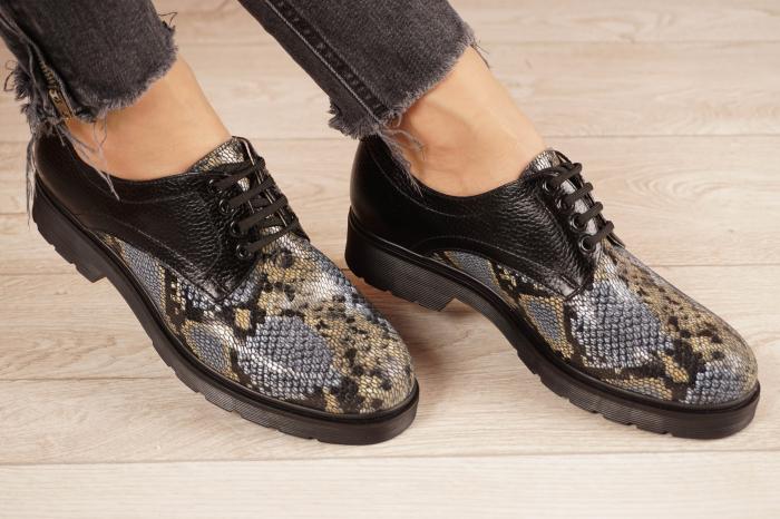 Pantofi dama din piele naturala cu imprimeu MSPD53017-21 [0]