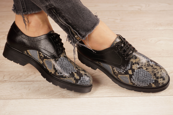 Pantofi dama din piele naturala cu imprimeu MSPD53017-21 [1]