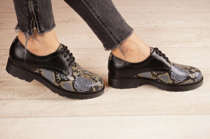 Pantofi dama din piele naturala cu imprimeu MSPD53017-21 [2]