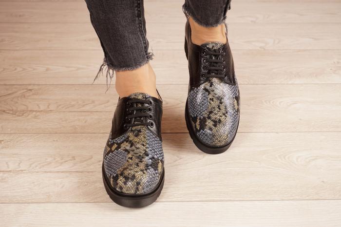 Pantofi dama din piele naturala cu imprimeu MSPD53017-21 [3]