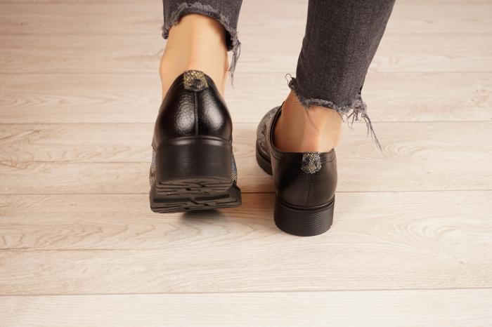 Pantofi dama din piele naturala cu imprimeu MSPD53017-21 [4]