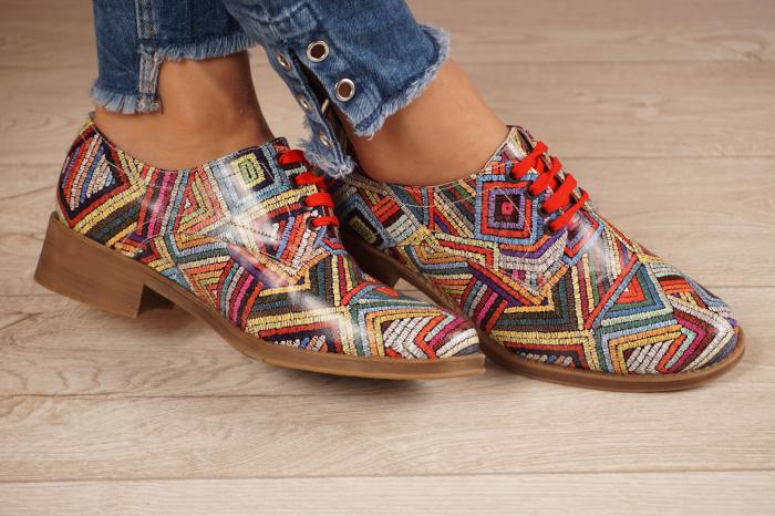 Pantofi dama din piele naturala cu imprimeu MSPD53017-3-20 [1]
