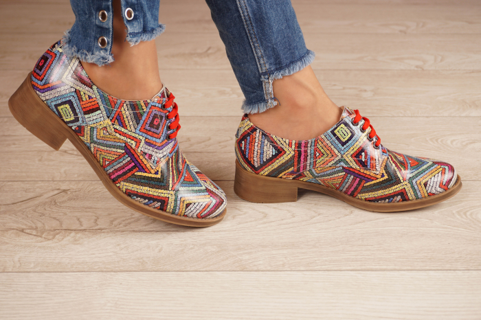 Pantofi dama din piele naturala cu imprimeu MSPD53017-3-20 [2]
