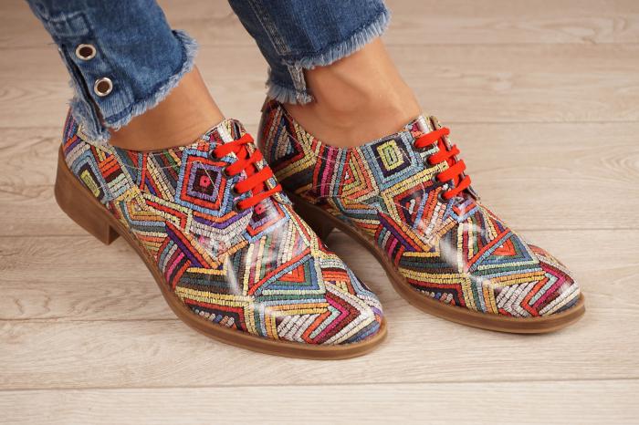 Pantofi dama din piele naturala cu imprimeu MSPD53017-3-20 [0]