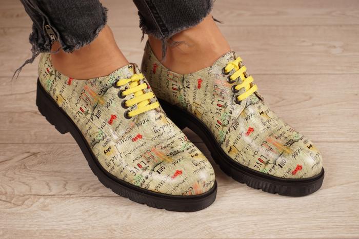 Pantofi dama din piele naturala cu imprimeu MSPD53017-4-20 0