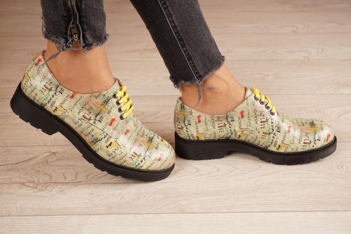 Pantofi dama din piele naturala cu imprimeu MSPD53017-4-20 2