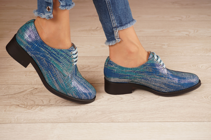 Pantofi dama din piele naturala cu imprimeu MSPD53017-5-20 [2]