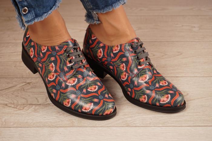 Pantofi dama din piele naturala cu imprimeu MSPD53017-6-20 [0]