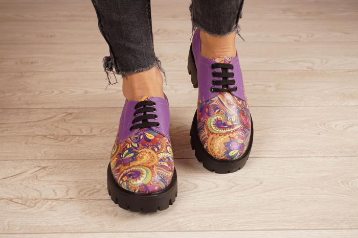 Pantofi dama din piele naturala cu imprimeu MSPD53017-9-20 [3]