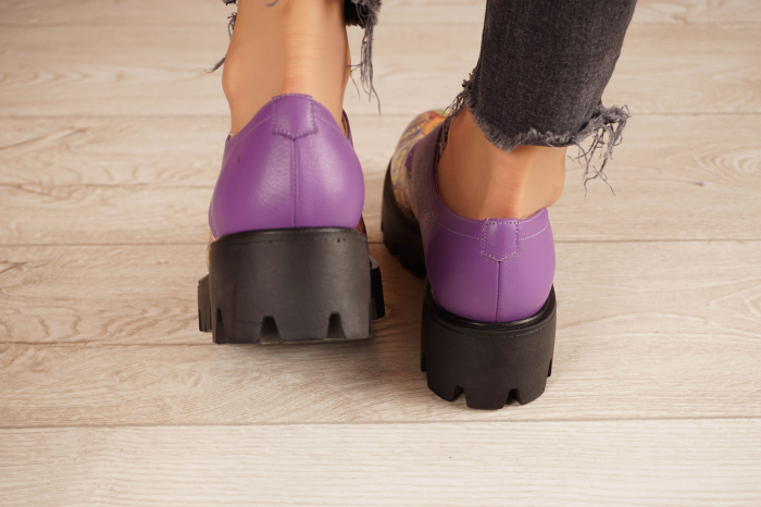 Pantofi dama din piele naturala cu imprimeu MSPD53017-9-20 [4]