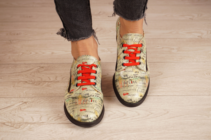 Pantofi dama din piele naturala cu imprimeu MSPD54020-1-20 3