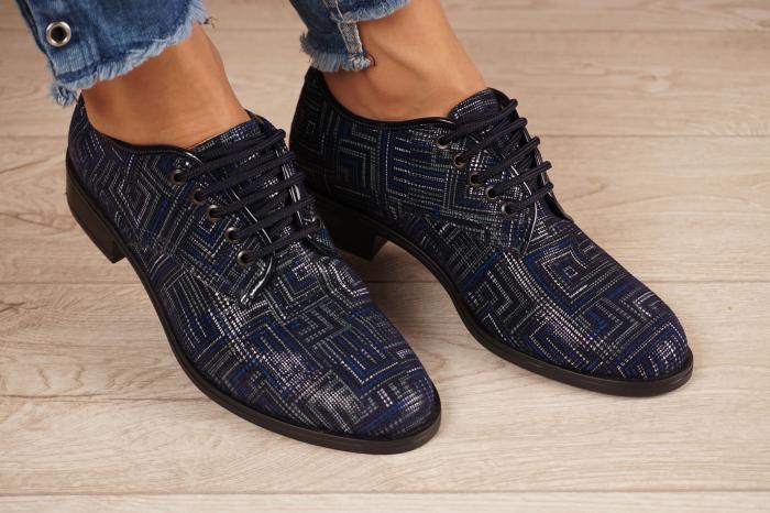 Pantofi dama din piele naturala cu imprimeu MSPD54620-1-20 [0]