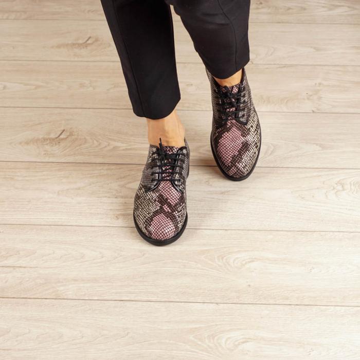 Pantofi dama din piele naturala cu imprimeu MSPD54620-20 2