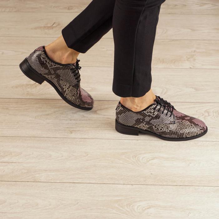 Pantofi dama din piele naturala cu imprimeu MSPD54620-20 0