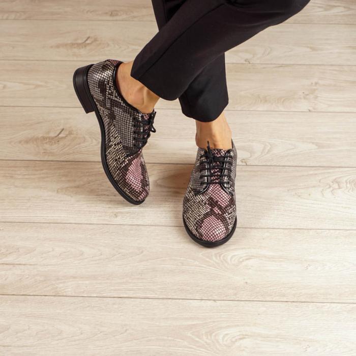 Pantofi dama din piele naturala cu imprimeu MSPD54620-20 1