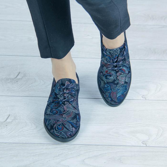 Pantofi dama din piele naturala cu imprimeu MSPD55320-1-20 1