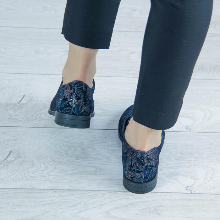 Pantofi dama din piele naturala cu imprimeu MSPD55320-1-20 2