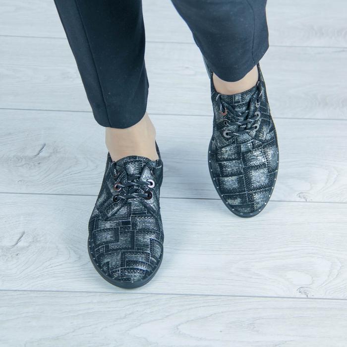 Pantofi dama din piele naturala cu imprimeu MSPD55320-2-20 [1]