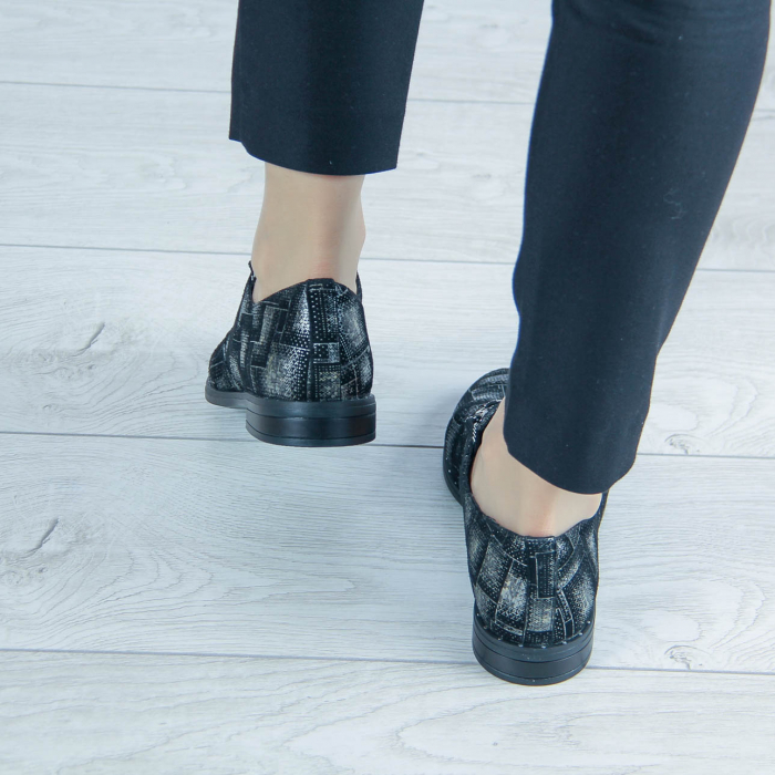 Pantofi dama din piele naturala cu imprimeu MSPD55320-2-20 [2]