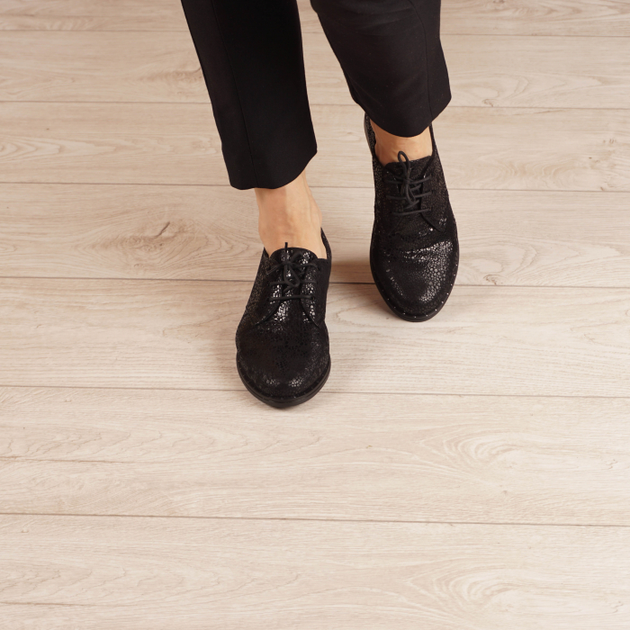Pantofi dama din piele naturala cu imprimeu MSPD55320-3-20 2