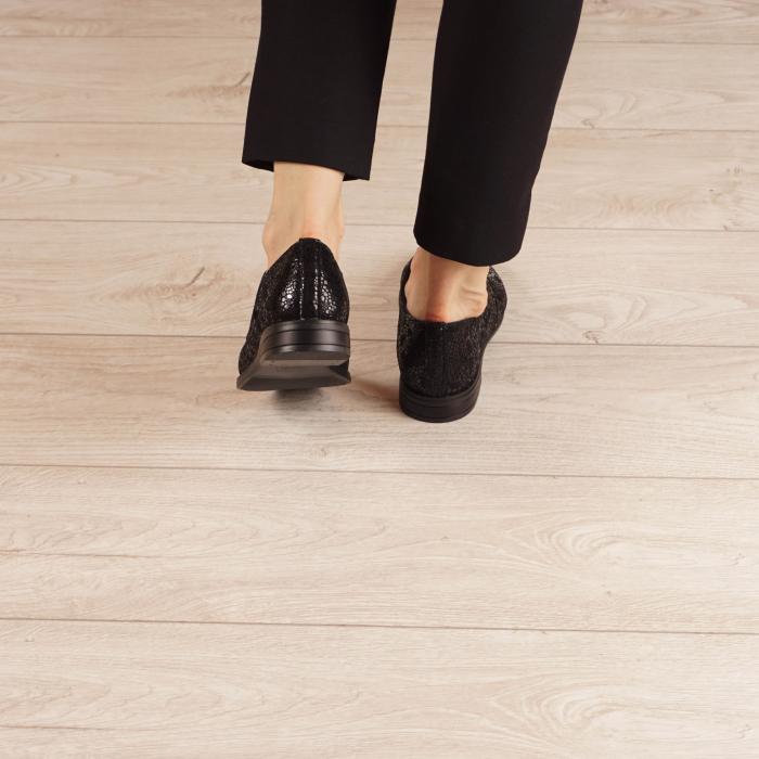 Pantofi dama din piele naturala cu imprimeu MSPD55320-3-20 3