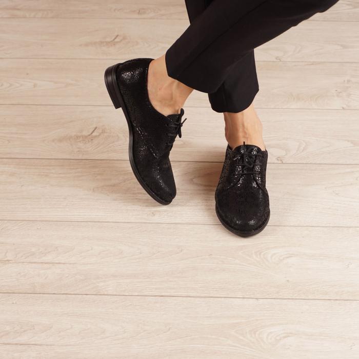 Pantofi dama din piele naturala cu imprimeu MSPD55320-3-20 1