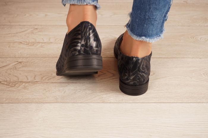 Pantofi dama din piele naturala cu imprimeu MSPD55320-4-20 [4]