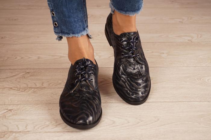 Pantofi dama din piele naturala cu imprimeu MSPD55320-4-20 [3]