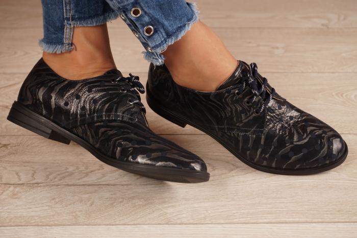 Pantofi dama din piele naturala cu imprimeu MSPD55320-4-20 [1]