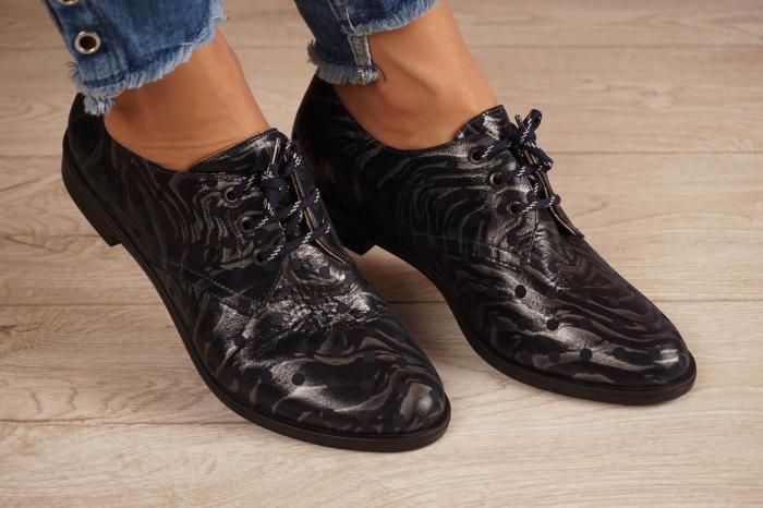Pantofi dama din piele naturala cu imprimeu MSPD55320-4-20 [0]
