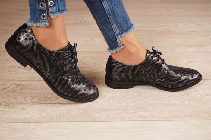 Pantofi dama din piele naturala cu imprimeu MSPD55320-4-20 [2]