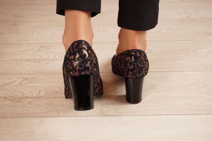 Pantofi dama din piele naturala cu imprimeu MSPD56318-1-20 [3]