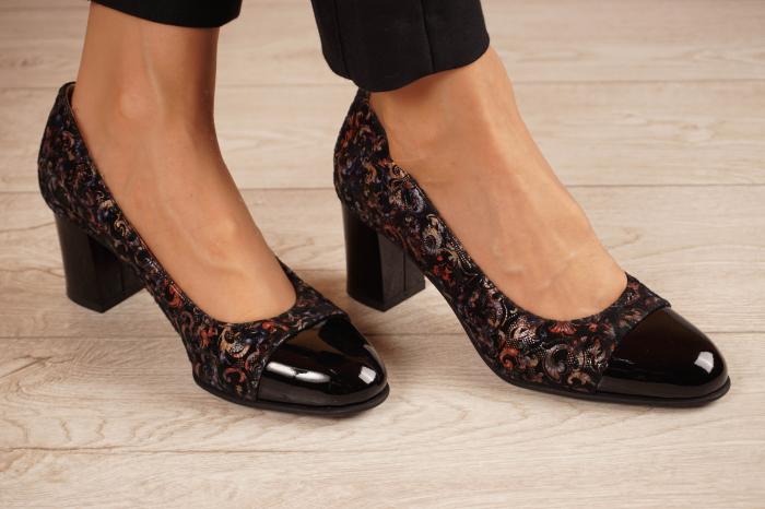 Pantofi dama din piele naturala cu imprimeu MSPD56318-1-20 [0]