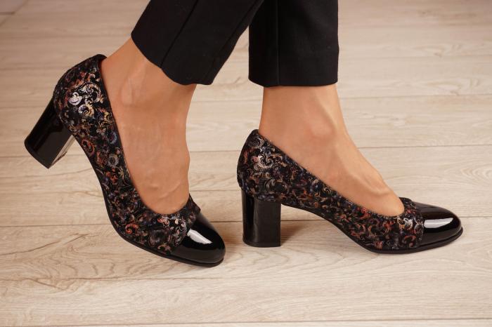 Pantofi dama din piele naturala cu imprimeu MSPD56318-1-20 [1]