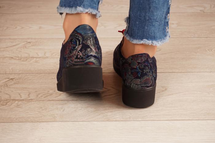 Pantofi dama din piele naturala cu imprimeu MSPD56320-1-20 [4]