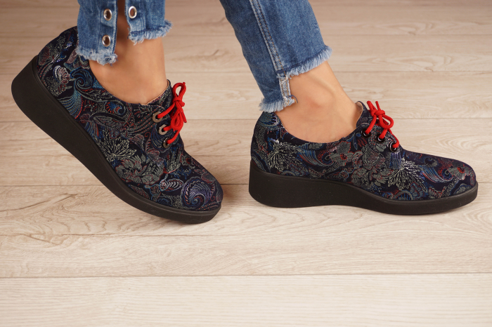 Pantofi dama din piele naturala cu imprimeu MSPD56320-1-20 [2]