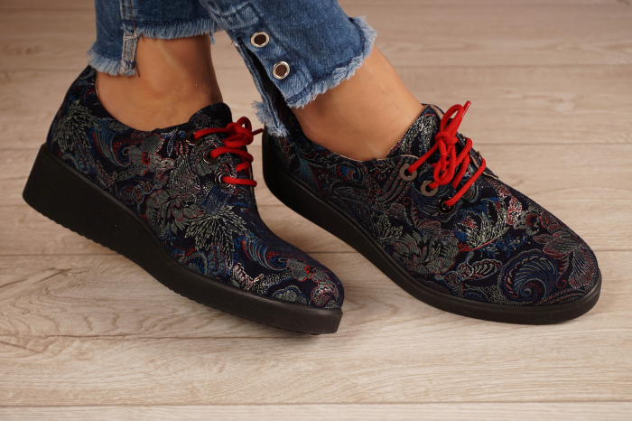 Pantofi dama din piele naturala cu imprimeu MSPD56320-1-20 [1]
