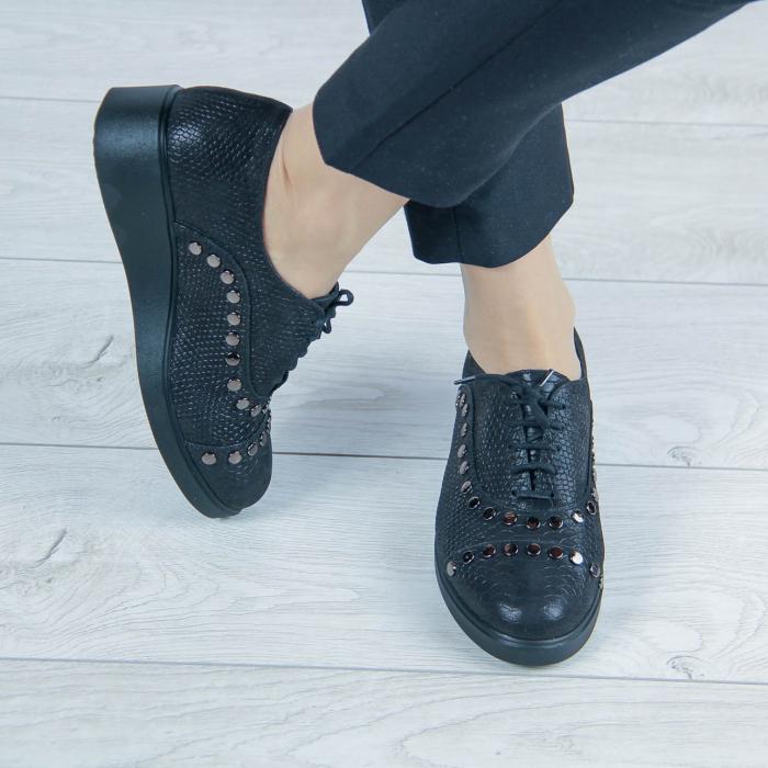 Pantofi dama din piele naturala cu imprimeu MSPD56520-20 [0]