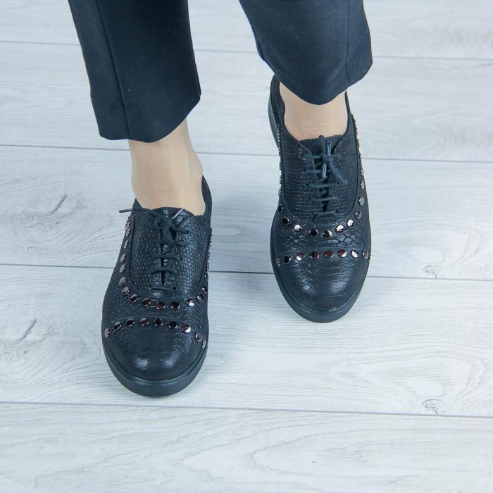 Pantofi dama din piele naturala cu imprimeu MSPD56520-20 [1]